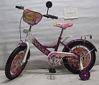 Велосипед TILLY Флора 16 T-21623 purple + white , детский велосипед