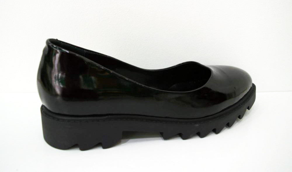Туфли лакированные черные Guero 658