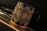 Чашка Вышиванка черная