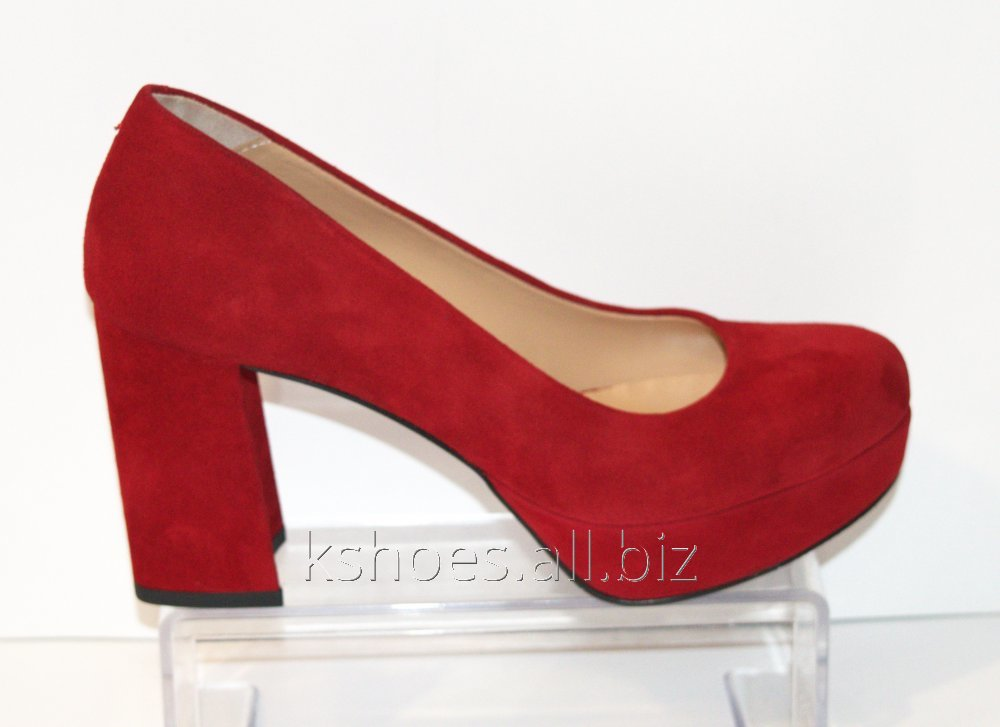 Туфли женские красные Lottini 11-276