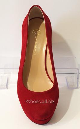 Туфли женские красные Lottini 11-276, фото 2