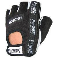 Мужские перчатки для фитнеса Power System PS-2200 WORKOUT черный