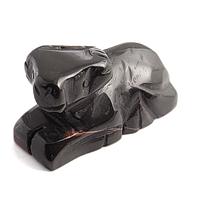 Яшма темно коричневая, статуэтка Овен