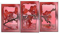 Схема для вышивки бисером на подрамнике триптих Отражение