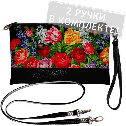 Черный Клатч Букет с роз