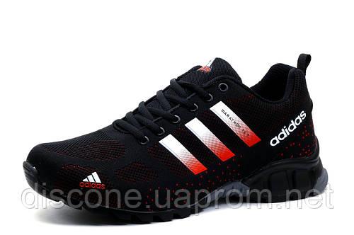 Кроссовки мужские Adidas Marathon TR 21, текстиль, черные с красным