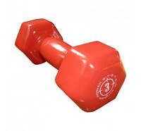 Гантель в виниловой оболочке Power System Dumbell 3 кг