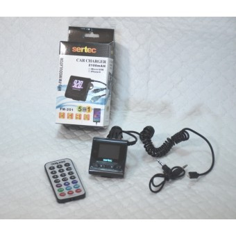 FM модулятор Sertec FM-251 2.1A Car Charger iPhone 5/6
