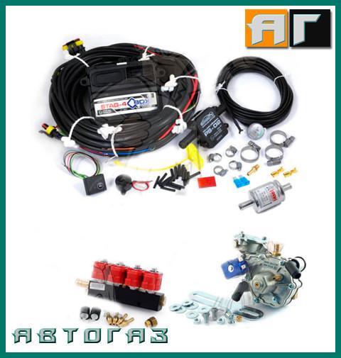 Комплект ГБО AC STAG 4 Q-BOX Artic Valtek 3ohm 240л.с пропан