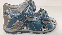 Детские кожаные босоножки для мальчика, детская летняя обувь ТМ B&G. Размер 22