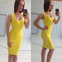 Платье женское Мия желтое , платья фото