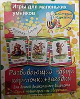 Детская книга Игры для маленьких умников (развивающий набор: карточки +загадки)