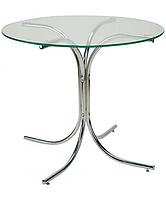 Опора стол для кафе Розана хром