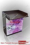 Комод пеленатор цвет Орех Темный + Орхидеи, фото 3