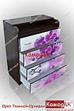 Комод пеленатор цвет Орех Темный + Орхидеи, фото 4