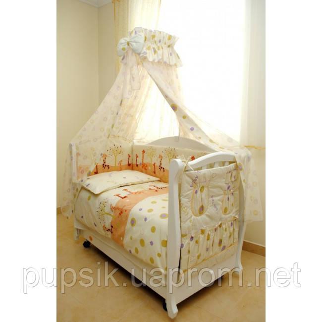 Постельный комплект для новорожденного Twins Comfort Жирафы (8 предметов) С-024