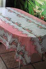 Клеёнка непрозрачная силиконовая в украинском стиле, фото 2