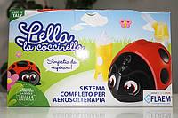 Детский компрессорный ингалятор ЛЕЛЛА (Lella) + ирригатор полости носа Flaem