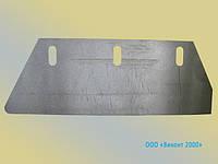 Нож отсекающий 170х58х0,5 мм для производства макаронных изделий