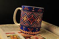 Чашка Вышиванка синяя
