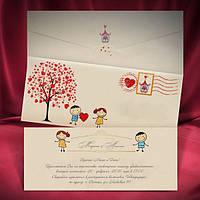 Свадебная пригласительная открытка