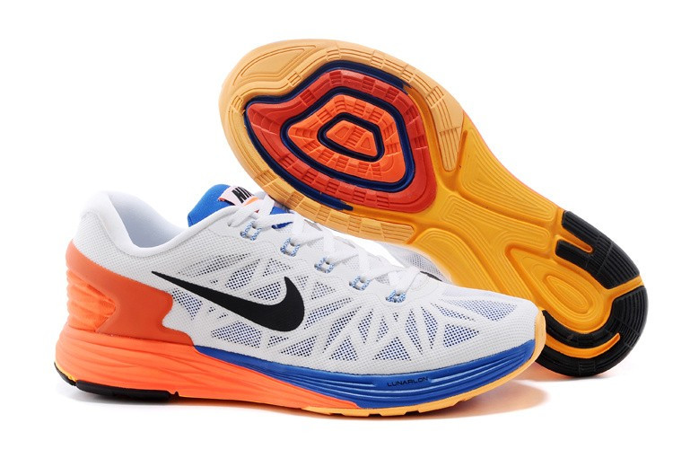 Кроссовки Nike Lunarglide White Royalblue Orange