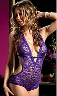 Ажурный фиолетовый боди