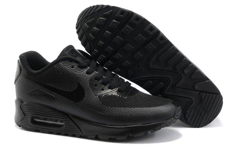 994b89ad Кроссовки в Стиле Nike Air Max 90 Hyperfuse Black Женские — в ...