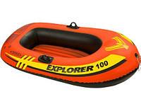 Двухкамерная надувная лодка из ПВХ Intex 58329 Explorer 100, фото 1