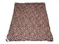 Одеяло полуторное, силиконовое Шоколадный орнамент, бязь хлопок 100% (140х205 см.)