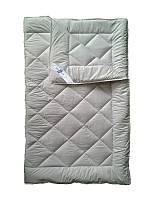 Шерстяное одеяло полуторное, бязь хлопок 100%, Облачко (155х215 см.)