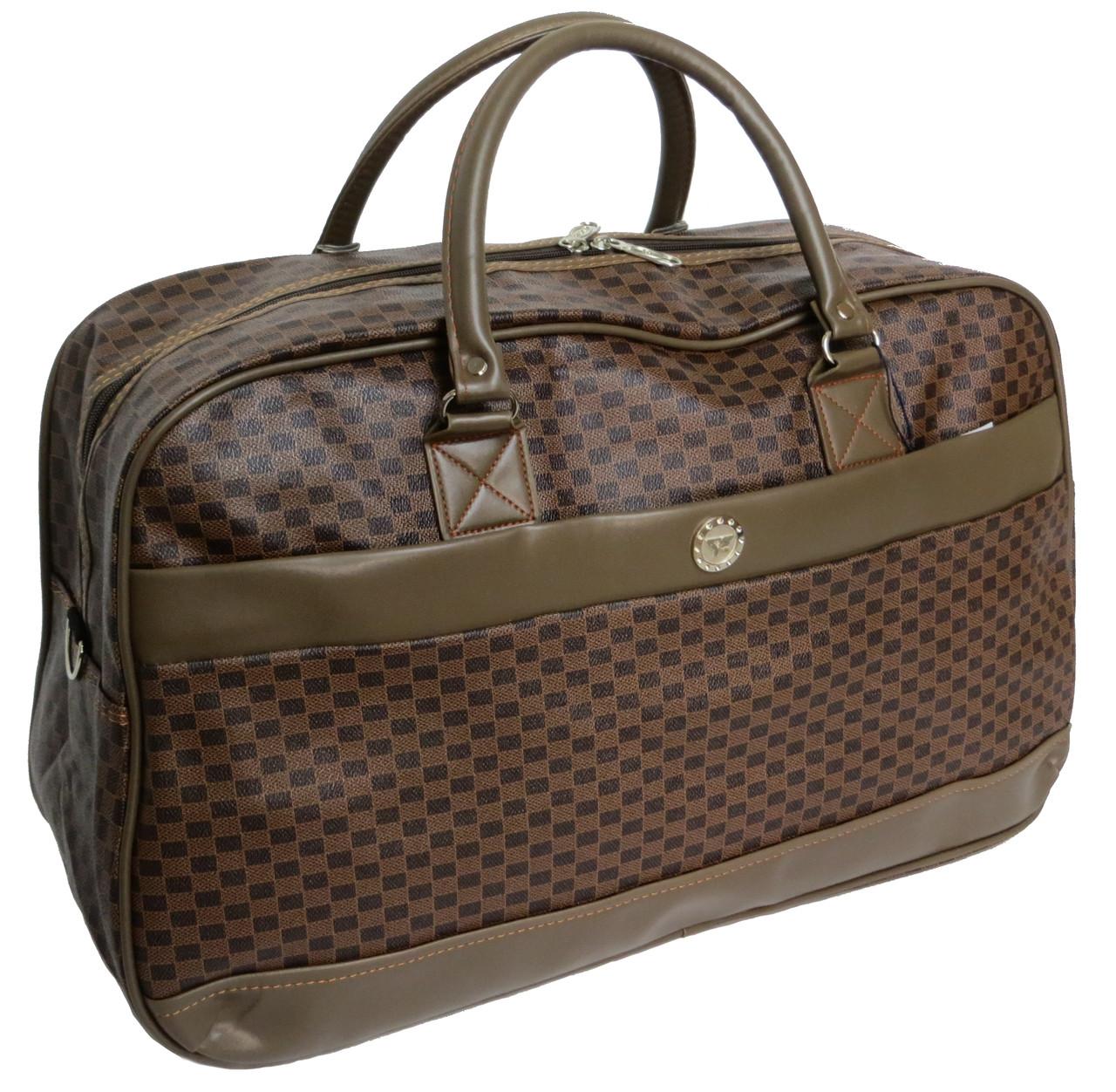 Дорожная сумка саквояж 0122 коричневый, 40 литров