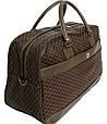 Дорожная сумка саквояж 0122 коричневый, 40 литров, фото 2