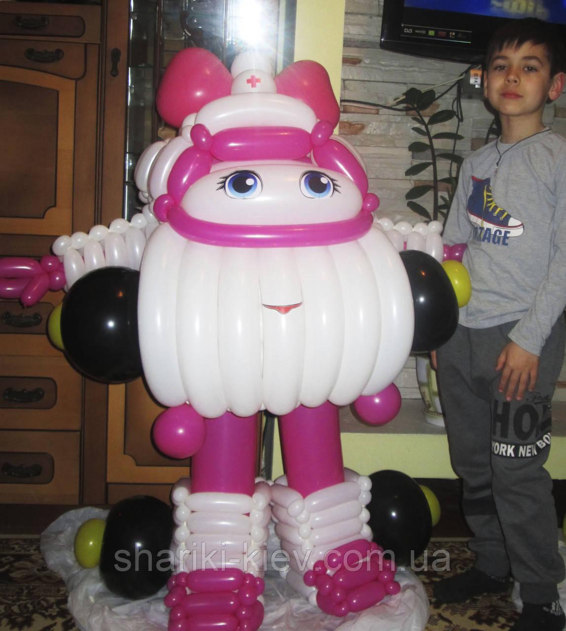 Эмбер из мультфильма Робокар Полли из воздушных шариков на День рождения