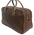 Дорожная сумка саквояж 0122 коричневый, 40 литров, фото 3
