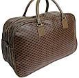 Дорожная сумка саквояж 0122 коричневый, 40 литров, фото 4