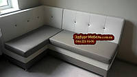 Диван кутовий для кухні зі спальним місцем. Спинка з втяжки., фото 1