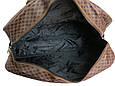 Дорожная сумка саквояж 0122 коричневый, 40 литров, фото 9