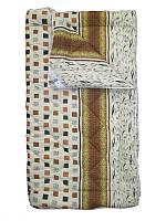 Шерстяное одеяло полуторное, бязь хлопок 100%, Леопардовая абстракция (155х215 см.)