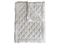 Одеяло 4 сезона двуспальное, бязь хлопок 100%, Беж (175х215 см.)