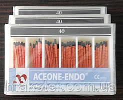 Штифты гуттаперчивые Aceone-Endo 04 №40