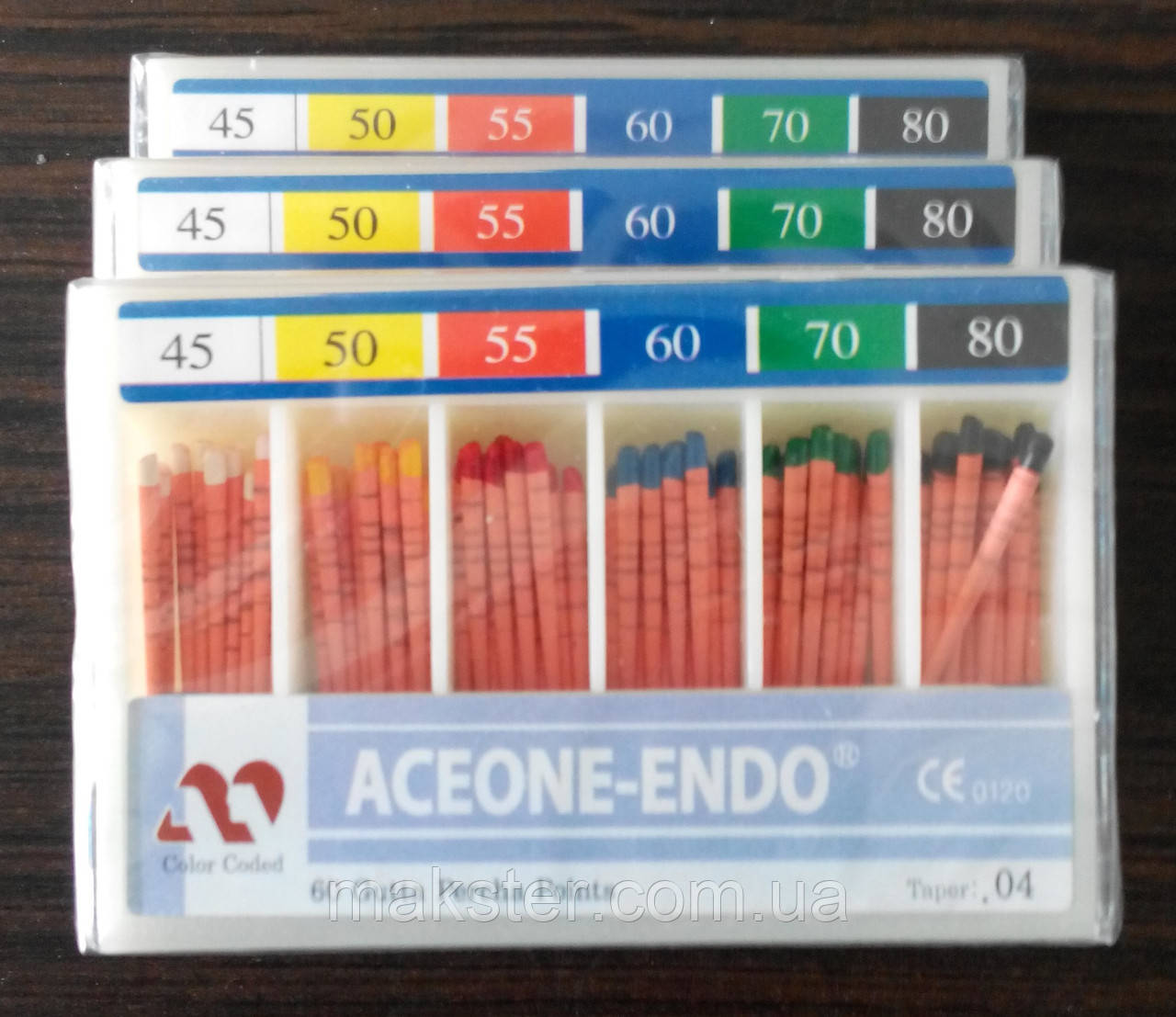 Штифты гуттаперчивые Aceone-Endo 04 №45-80