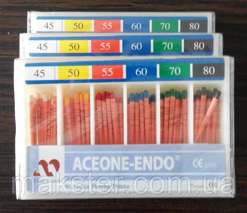 Штифты гуттаперчивые Aceone-Endo 04 №45-80, фото 2