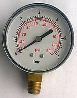 "Манометр 0-6 бар 1/4"" MDR вертикальний"