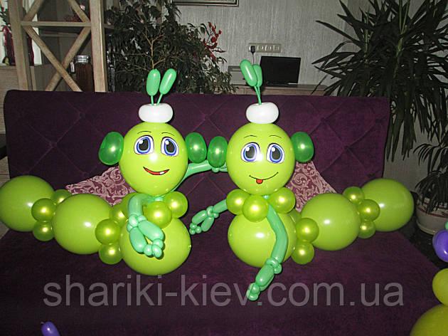 Гусени 2 шт. из воздушных шариков на День рождения , фото 2