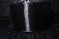 Лента атласная чёрная