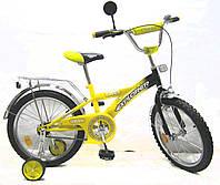 Велосипед EXPLORER 18 T-21813 yellow + black, детский велосипед