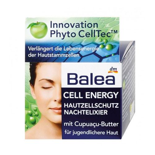 Balea Cell Energy Ночной крем - гель эликсир молодости для кожи лица 50 ml