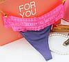 Стильные Стринги гипюр Victoria's Secret фиолетовый цвет