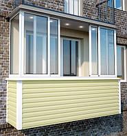 Наружная обшивка балкона, отделка балкона снаружи